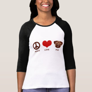 Peace Love Pug Tshirt