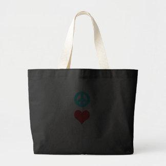 Peace love Puggle Bag
