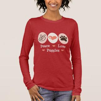 Peace Love Puggles Long Sleeve Tee