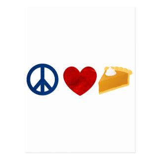 Peace, Love, Pumpkin Pie Postcard
