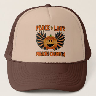 Peace Love Punkin Chunkin Trucker Hat