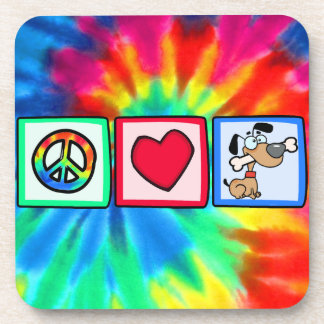 Peace, Love, Puppy Dogs Coasters