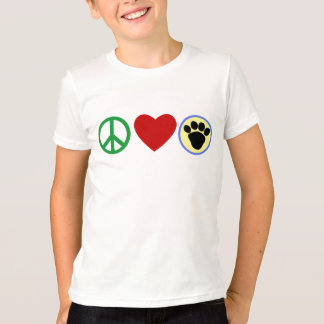 Peace Love Puppy Paws T shirts, Gifts T-Shirt