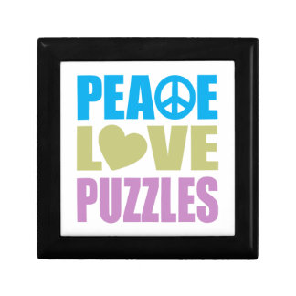 Peace Love Puzzles Small Square Gift Box