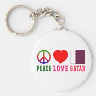Peace Love Qatar Key Chains