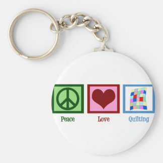 Peace Love Quilting Key Ring