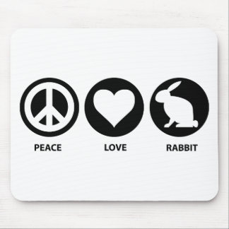 Peace Love Rabbit Mouse Mat