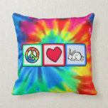 Peace, Love, Rabbits Pillows