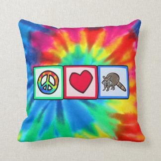 Peace, Love, Raccoons Cushion