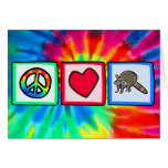 Peace, Love, Raccoons Greeting Card