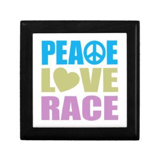 Peace Love Race Small Square Gift Box