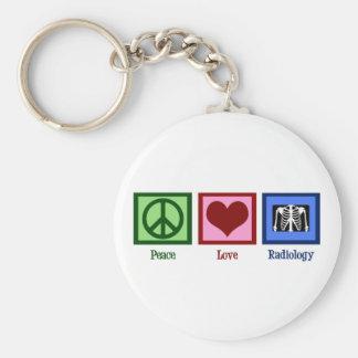Peace Love Radiology Key Ring