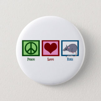 Peace Love Rats 6 Cm Round Badge