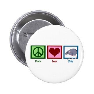 Peace Love Rats 6 Cm Round Badge