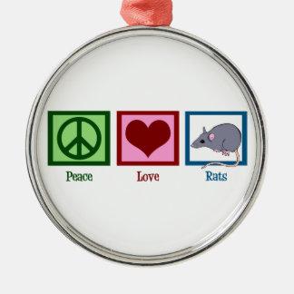 Peace Love Rats Christmas Ornament