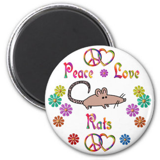 PEACE LOVE RATS REFRIGERATOR MAGNETS