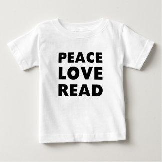 Peace Love Read Baby T-Shirt