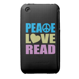 Peace Love Read iPhone 3 Cover