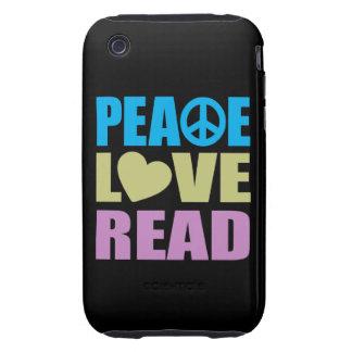 Peace Love Read Tough iPhone 3 Cover