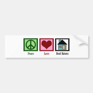 Peace Love Real Estate Bumper Sticker