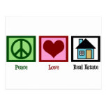 Peace Love Real Estate Post Cards