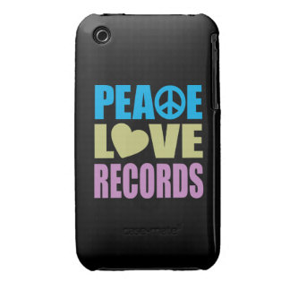 Peace Love Records iPhone 3 Cases