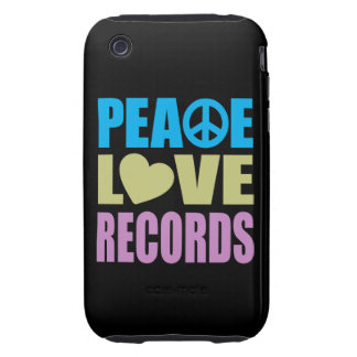 Peace Love Records Tough iPhone 3 Covers