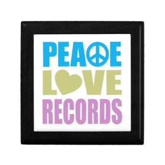 Peace Love Records Small Square Gift Box