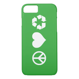 Peace Love Recycle iPhone 7 Case