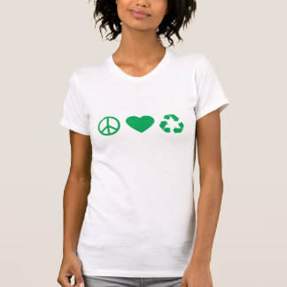 Peace Love Recycle Tshirts