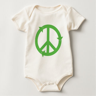 PEACE & LOVE & RECYCLING BABY BODYSUIT