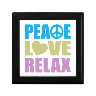 Peace Love Relax Small Square Gift Box