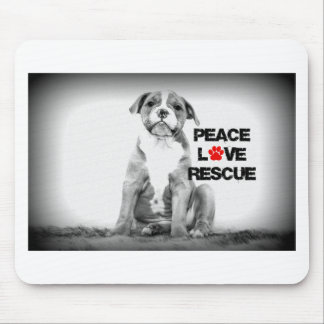 Peace Love Rescue Dog Mouse Pad