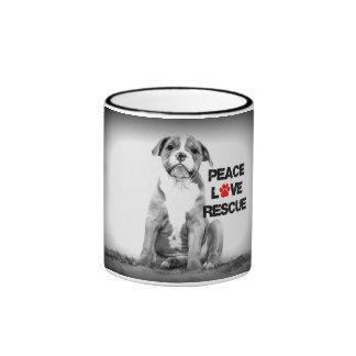 Peace Love Rescue Dog Mug