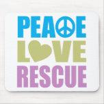 Peace Love Rescue Mouse Mats
