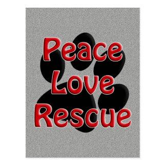 Peace Love Rescue Pet Adoption Postcard
