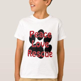 Peace Love Rescue Pet Adoption T-Shirt