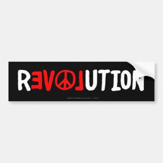 Peace Love Revolution Bumper Sticker