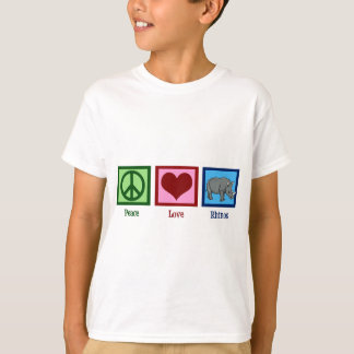 Peace Love Rhinos Kids T-Shirt