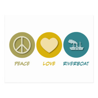 Peace Love Riverboat Post Cards