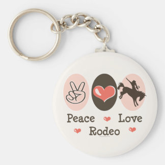 Peace Love Rodeo Keychain