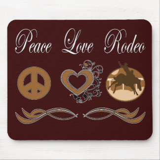 Peace Love Rodeo Mouse Pad