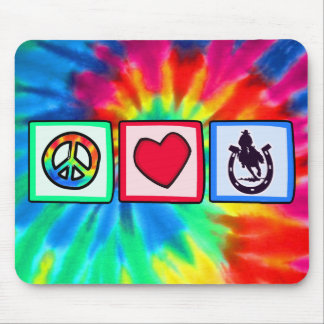 Peace, Love, Rodeo Mouse Pads