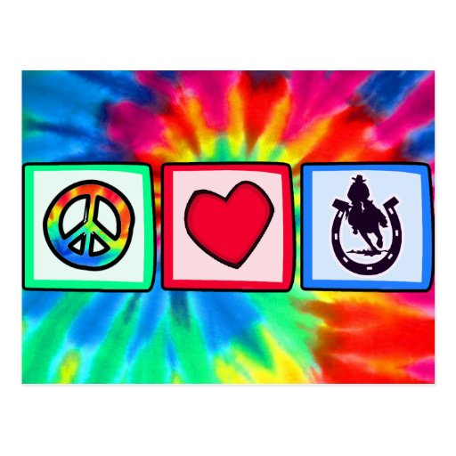 Peace, Love, Rodeo Postcards