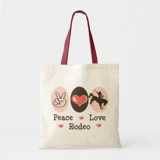 Peace Love Rodeo Tote Bag
