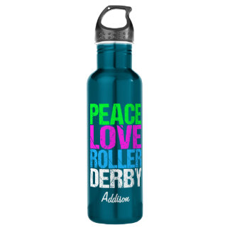 Peace Love Roller Derby 710 Ml Water Bottle