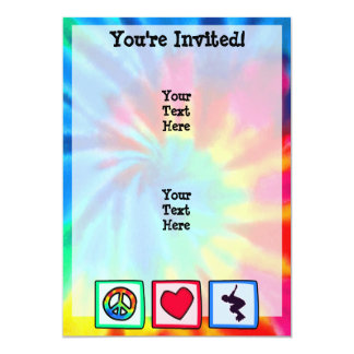 Peace, Love, Rollerblading 13 Cm X 18 Cm Invitation Card