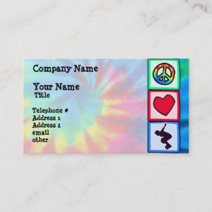 Roller skating business cards business card printing zazzle uk peace love rollerblading business card reheart Choice Image
