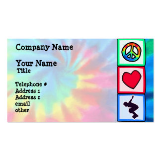 Peace, Love, Rollerblading Pack Of Standard Business Cards