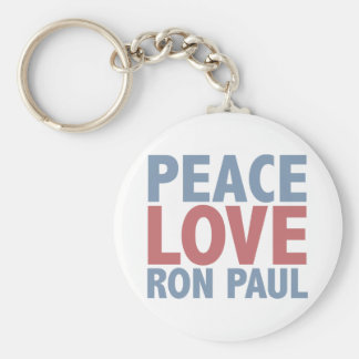 Peace Love Ron Paul Basic Round Button Key Ring